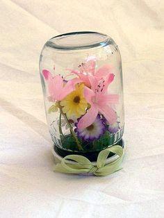 Upside down mason jar