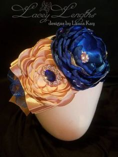 Titanic Blue/Baby Headband/ infant headband/ girls headband/ blue headband/ wedding/flower girl/ photo shoot/ special occasion/ titanic by LaceyLengths on Etsy