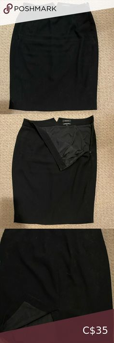RW&CO black pencil skirt Black pencil skirt with side zip and slit in the back. Slight wear as shown in the picture in the slit. RW&CO. Pencil Skirt Black, Two Piece Skirt Set, Zip, Skirts, How To Wear, Closet, Stuff To Buy, Beauty, Things To Sell