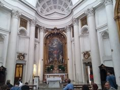 San Carlo alle Quattro Fontane. This Baroc Church was designed by Francesco Boromini and was being built from 1634 to 1677.  Because the church is so small, its also called San Carolino.