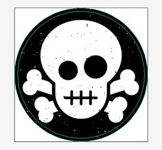 Create a Skull & Crossbones Sticker Design in Illustrator