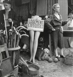 Marché aux puces  1948 Paris (Willy Ronis)