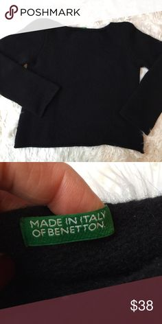 United Colors of Benetton Made in Italy 100% Wool Pre loved excellent condition looks great says size Large but runs small/medium United Colors Of Benetton Sweaters Crew & Scoop Necks
