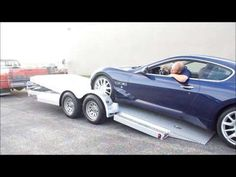 """Please """"Like"""" our videos if you like our trailers! Car Guy Trailers is proud to introduce our """"Eliminator"""" series of open tilt-deck car hauler. Car Hauler Trailer, Trailer Plans, Best Trailers, Custom Trailers, Chevrolet Apache, Chevrolet Trucks, Van Conversion Interior, Cargo Rack, Utility Trailer"""