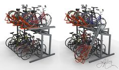 Bike Storage Office, Architecture Office, Architecture Design, Cycle Storage, Bicycle Rack, Shops, Bike Parking, Parking Design, Bicycle Design