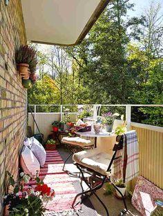 decorar una pequeña terraza