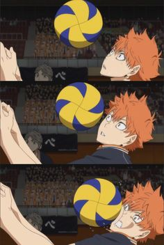 I was hit straight to the face when I was trying to receive a powerful spike. Hinata nice receive