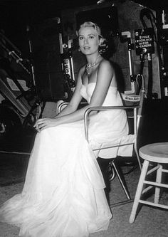 "Grace Kelly on the set of ""To Catch a Thief"" 1955 Paramount."