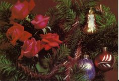 Items Similar To Roses And Christmas Tree