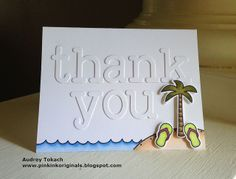 Lawn Fawn -  Life is Good + coordinating dies, Louie's ABCs Lawn Cuts _ fabulous teacher thank you card with a beach-y theme by Audrey via Flickr - Photo Sharing!