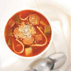 It's cold outside, which means it's officially soup season. Why not warm up the family tonight with this Simple Italian Smoked Sausage Soup recipe?