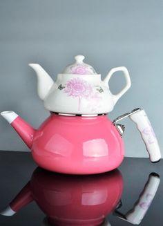 çaydanlık #pink #pembe #çeyiz #çaydanlık #tea