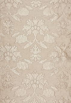 Roussillon Embroidery in Greige from Schumacher Fabrics
