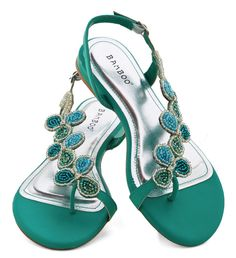 Bead of a Different Drummer Sandal in Sea Green