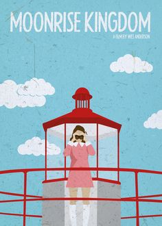 Moonrise Kingdom (2012) ~ Minimal Movie Poster by Gokce Inan ~ Wes Anderson Series