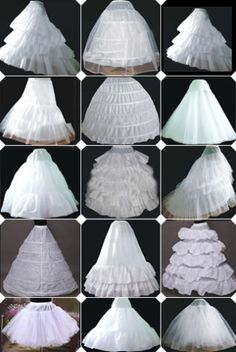 WHITE-WEDDING-BRIDAL-PROM-PETTICOAT-UNDERSKIRT-HOOP-HOOPLESS-CRINOLINE-SKIRT-S-L