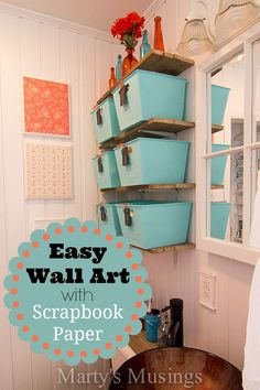 Easy Wall Art with Scrapbook Paper: use the supplies you have on hand to make beautiful art!