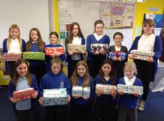 Christmas shoe boxes with Eleanor!