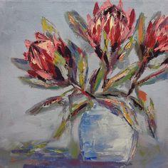 Flower Paintings, Painting Flowers, Art Flowers, Exotic Flowers, Flower Art, Simple Oil Painting, Oil Painting Abstract, Small Canvas Art, Diy Canvas Art