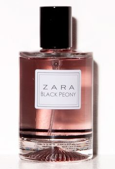 Black Peony Zara: bergamot; freesia and peach; vanilla and sandalwood.
