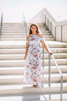 floral maxi dress - spring wedding