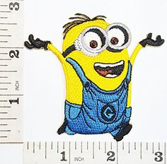 3e86a5ffbb1b Despicable Me Minion cartoon kid patch Symbol Jacket Tshirt Patch Sew Iron  on Embroidered Sign Badge Costume ** Read more at the image link.