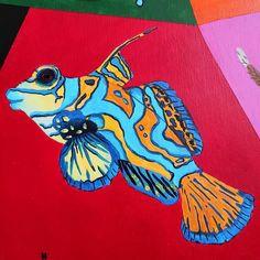 """280 kedvelés, 9 hozzászólás – Horváth Kincső Art (@horvathkincso_art) Instagram-hozzászólása: """"Állati színek: Valamilyen hal 😂 🧡💙 #fish #acrylicpainting #animalistic #contemporaryart #painting…"""" Painting, Accessories, Instagram, Painting Art, Paintings, Painted Canvas, Drawings, Jewelry Accessories"""