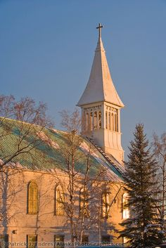 Old Country Churches, Old Churches, Old Catholic Church, Catholic Churches, Bay College, Fairbanks Alaska, National Geographic Travel, Immaculate Conception, Living In Alaska