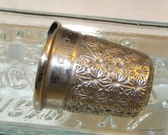 1921 England Charles Horner Sterling Thimble 9 Silver Sewing Quilting Crafting via Etsy