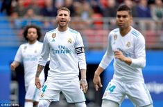 Real Madrid captain Sergio Ramos had an accident during Real Madrid's win over Eibar