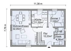 Discover recipes, home ideas, style inspiration and other ideas to try. Haus Am Hang, House Plans, Floor Plans, Marlow, How To Plan, Architecture, Home, Ground Floor, House Construction Plan