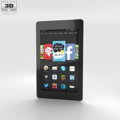 Amazon Fire HD 6 White 3D Model .max .c4d .obj .3ds .fbx .lwo .stl @3DExport.com by humster3D