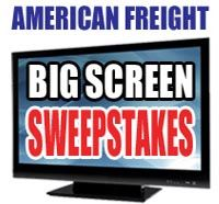 """We're giving away a 60"""" big-screen TV on our Facebook page - head over today to enter our sweepstakes! www.facebook.com/americanfreightfurniture"""