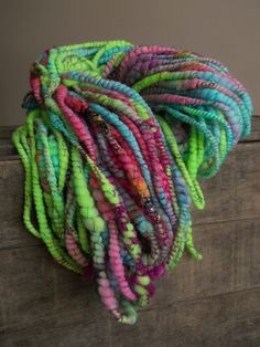 Neon Be On Art Yarn by designsbyamber on Etsy