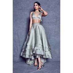 Khushi Kapoor looks like a dream as she comes to support designer Manish Malhotra At Lakmé Fashion Week 2019 - HungryBoo Choli Designs, Lehenga Designs, Lengha Design, Wedding Dresses For Girls, Indian Wedding Outfits, Indian Outfits, Dress Indian Style, Indian Dresses, Pakistani Dresses