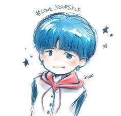 I love this drawing omg!~Sooooo Cuteeeeee SUGA MY LOVE ❤