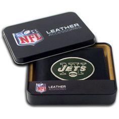 NFL - Men's New York Jets Embroidered Billfold Wallet, Grey