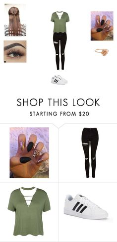 """Avenger Thor #5"" by victoriahoegh ❤ liked on Polyvore featuring Topshop, Boohoo and adidas"