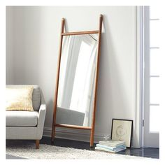 Shop mid century dowel mirror from west elm. Find a wide selection of furniture and decor options that will suit your tastes, including a variety of mid century dowel mirror. Floor Mirror, Mid Century Mirror, Mid Century Living Room, Wood Home Decor, Mid Century Modern Mirror, Home Decor, Living Room Mirrors, Modern Mirror, Mirror