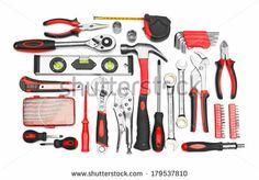 Many Tools Isolated On White Background Stockfotonummer: 179537810 : Shutterstock