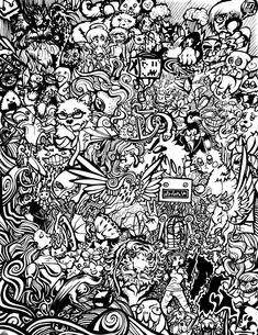 Doodle Art Coloring Page