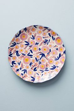 Painted Poppies Side Plate   Anthropologie