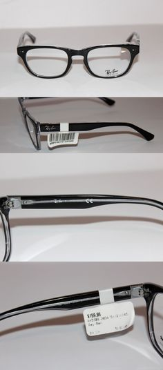 595a45ace496 Fashion Eyewear Clear Glasses 179244  New Authentic Ray Ban Rb 5309 2034  Black Clear 51Mm