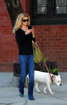 Kristen Johnston with her Pit Bull in SoHo #3rdRock