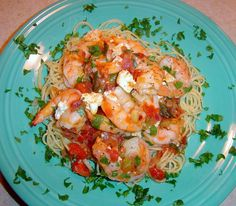 Greek Baked Shrimp with Feta Recipes Lunch Recipes, Appetizer Recipes, Cooking Recipes, Healthy Recipes, Appetizers, Yummy Recipes, Healthy Dinners, Cheese Recipes, Healthy Foods