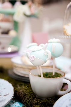 Tea Kettle Cake Pops from a Shabby Chic Alice In Wonderland Birthday Party via Kara's Party Ideas KarasPartyIdeas.com (46)