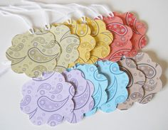 Lot's Of Beautiful Item's   Gift Tags Paisley Flower Gift Tags by HDPaperBoutique on Etsy