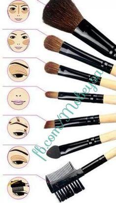 chuleta para saber para qué sirve cada pincel de maquillaje #trucos #tips #maquillaje