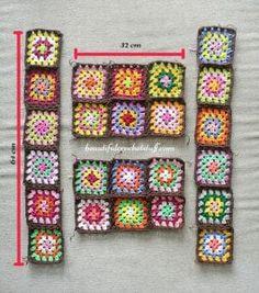 Hırka Örgü Modelleri Anlatımlı - Mimuu.com Crochet Jacket Pattern, Granny Square Crochet Pattern, Crochet Squares, Crochet Granny, Irish Crochet, Crochet Baby, Granny Squares, Shrug Pattern, Slip Stitch Crochet