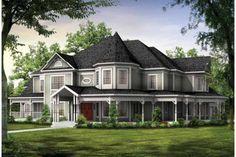 Victorian Exterior - Front Elevation Plan #72-196 - Houseplans.com